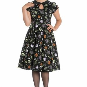 Hell Bunny Salem 50s Dress 4720 Halloween Gothic